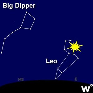 Look near the constellation LEO to the east.